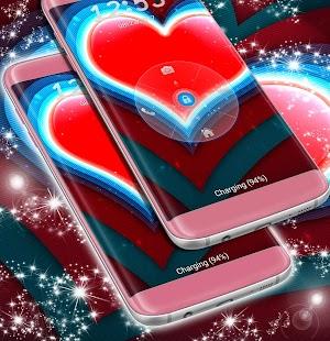 Obrazovka s červeným srdcem - náhled