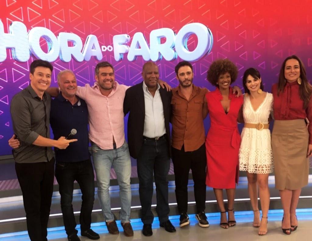 Atores de Topíssima e Amor Sem Igual gravaram participação no 'Hora do Faro'