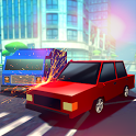 Blocky Highway Roads Racer 3D icon