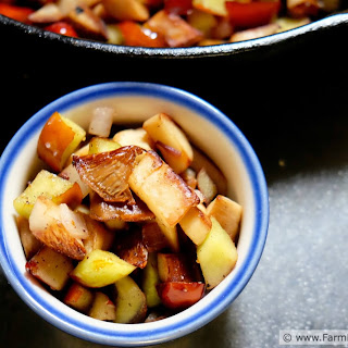 Jujube Fruit and King Oyster Mushroom Sauté
