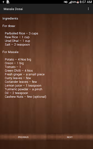 android South Indian Breakfast Recipes Screenshot 3