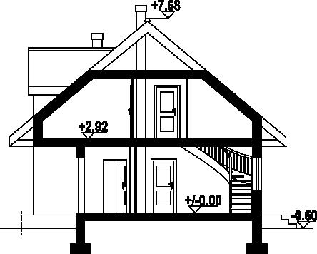 Korfantów dws - Przekrój