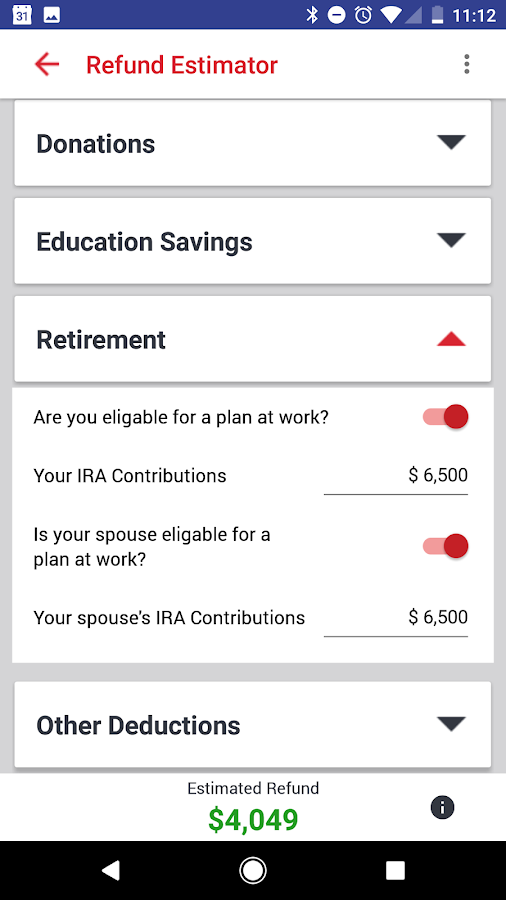 Easy Tax Refund Estimator