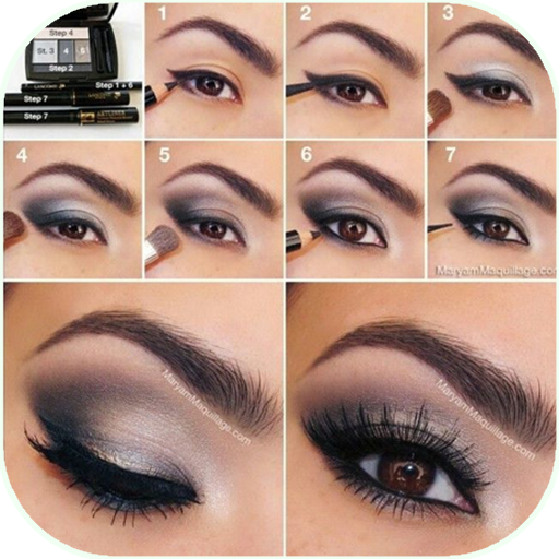 Eyes makeup steps for girls