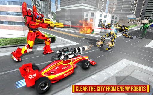 Helicopter Robot Transform: Formula Car Robot Game filehippodl screenshot 8