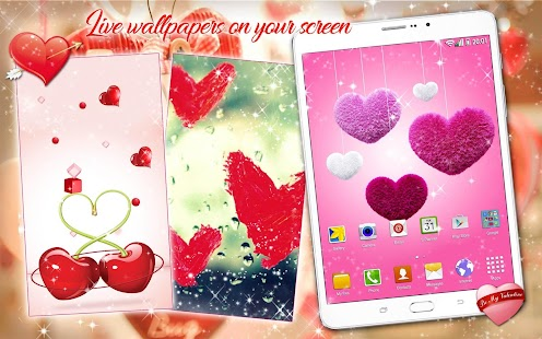 Valentine Live Wallpaper ❤ Love Background Images - Android Apps ...