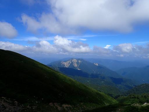 帰路の展望(三方崩山)