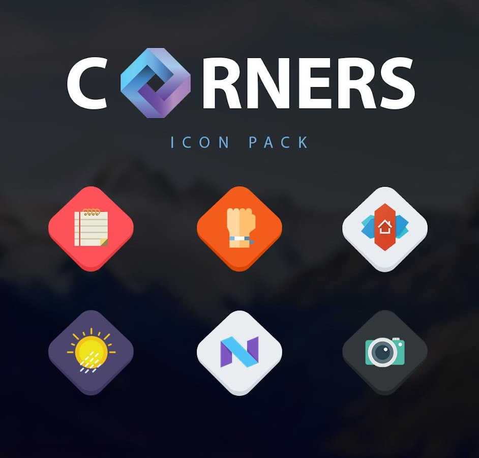 Corners HD icon pack- screenshot