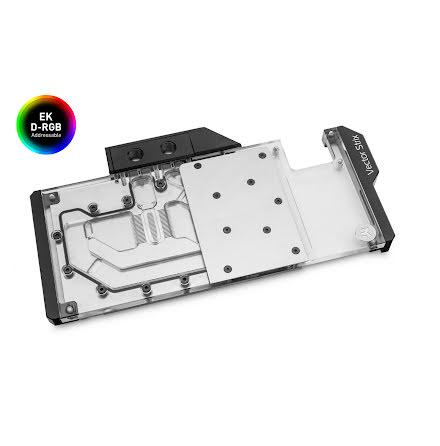 EK vannblokk for skjermkort, EK-Quantum Vector Strix RX 5700 +XT D-RGB - Nickel + Plexi
