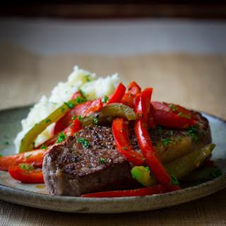 Skillet Pepper Steaks.