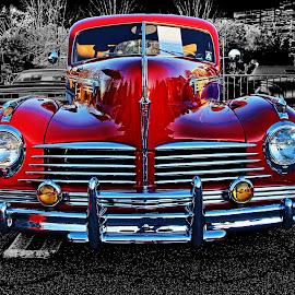 Hudson by JEFFREY LORBER - Transportation Automobiles ( red, lorberphoto, rust 'n chrome, caffeine & octane, hudson, jeffrey lorber, red car )