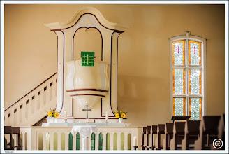 Photo: Luthertkanzelaltar in der Dorfkirche Strasen