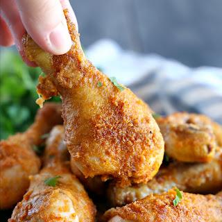 Crispy Oven Fried Chicken.