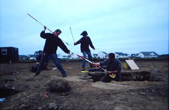 Photo: Magheramenagh, Portrush, 1999. Attack & defence of the rock-cut Souterrain