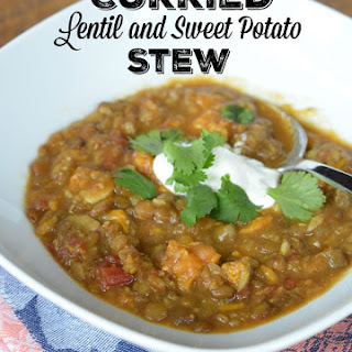Curried Lentil & Sweet Potato Stew – Instant Pot or Stove Top.