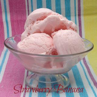 Strawberry Banana Yogurt Ice Cream.