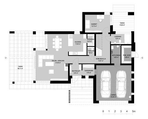 New House 7 - Rzut parteru