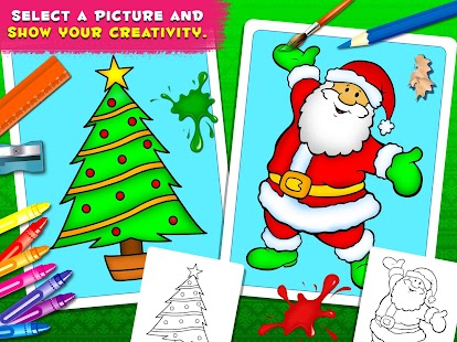 Coloring Book Christmas Holiday - Christmas Games - náhled