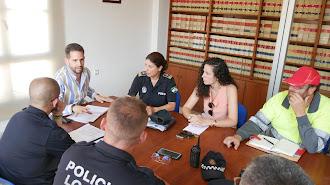 Reunión de coordinación celebrada en el Ayuntamiento de Adra.