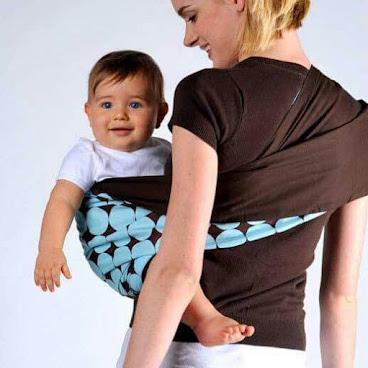 無扣環式育兒孭帶 - 藍色波紋 (原價$400)