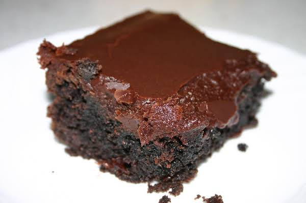 Mmmmmm Yummy Chocolate Fudge Frosting Draped Over This Dark Fudgy Brownie Of Lauries...will Post Link In Comments :o)