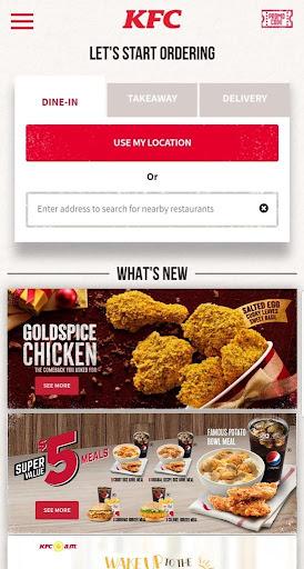 KFC Singapore screenshot