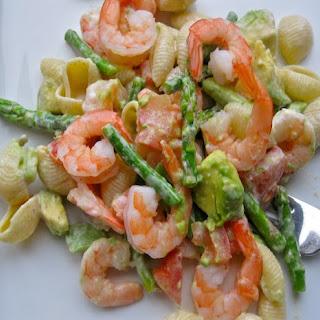 Pasta Salad with Shrimp, Avocado and Asparagus Recipe