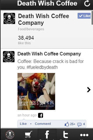 Wish Coffee Company Screenshot
