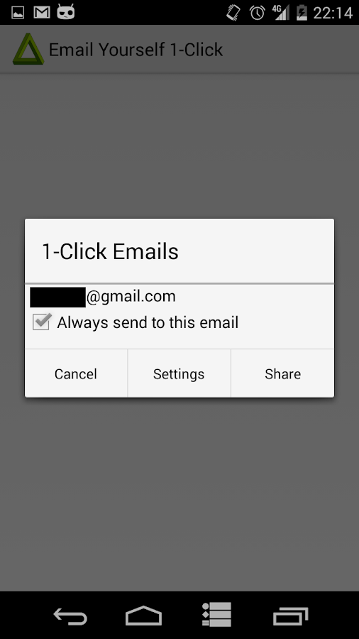 Email Yourself- screenshot