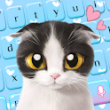 Blue Cute Kitty keyboard icon