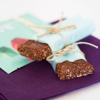 Raw Chocolate Protein Bars with Dates