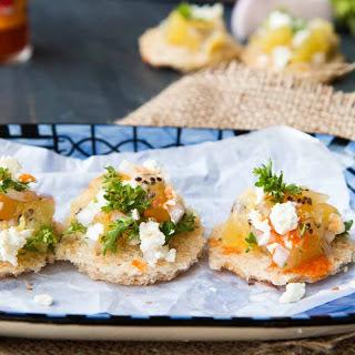 Spicy Kiwifruit Salsa & Feta Toasties Recipe Featured