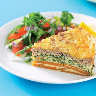 Tuna, Sweet Potato and Arugula Frittata