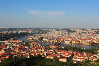 Photo: View to Prague from Petřín tower.