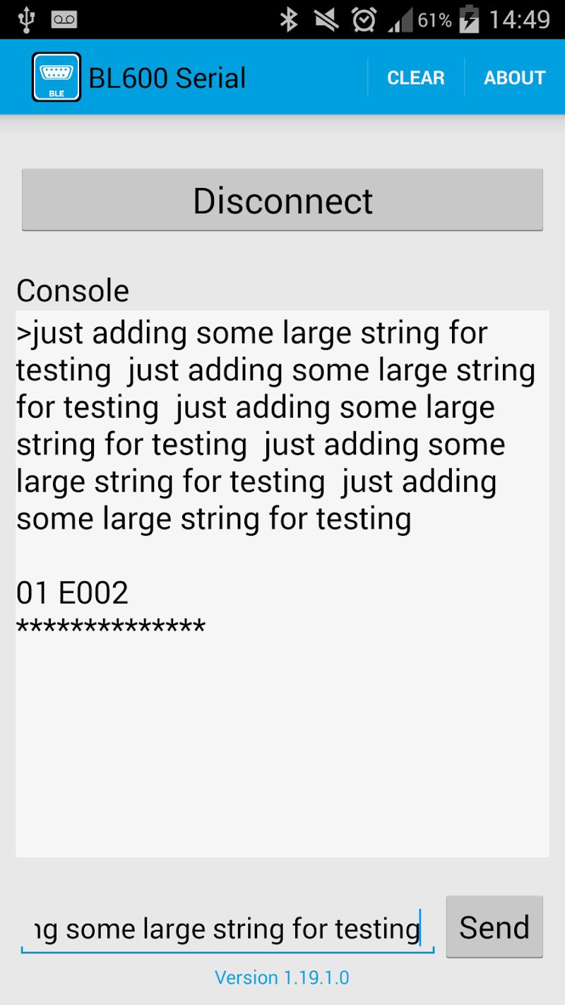 Скриншот Laird BL600 Serial