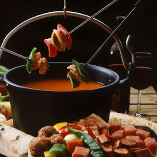 Spiced Tomato Soup with Kebabs