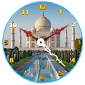 Tajmahal Clock Live Wallpaper