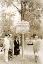Photo: L To R - Unknown, Ralph Gardner, Mother Fay Gardner, & Unknown @ OMG historical Marker. Shelby NC