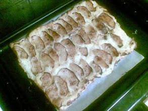 Photo: Tarta de manzana con la crema pastelera q sobro ayer