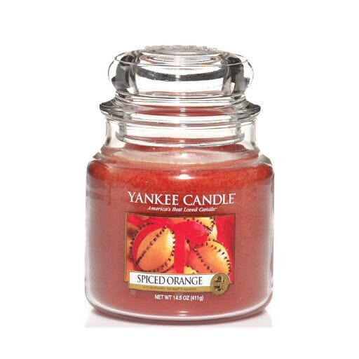 Dorm Room Decor Ideas; Clintons' Yankee candle spiced orange medium jar