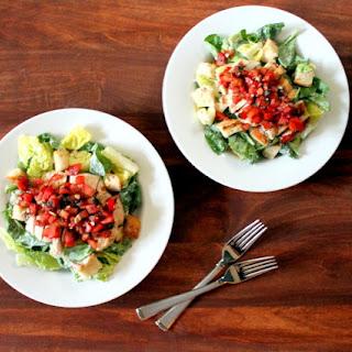 Bruschetta Chicken Salad with Parmesan Peppercorn Dressing