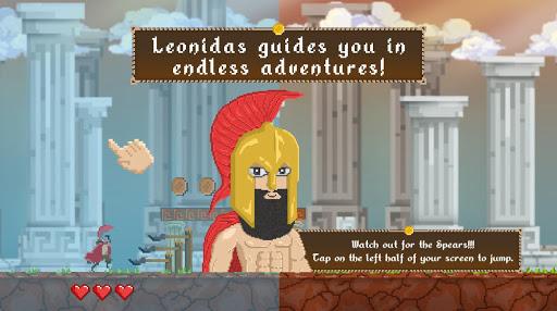 Spartap - Pixel Endless Runner apkmind screenshots 3