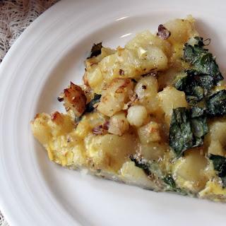 Roasted Potato and Kale Frittata.