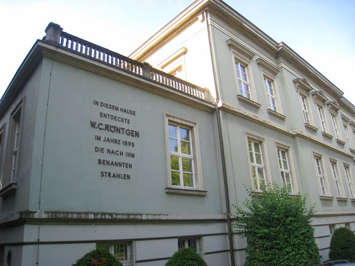 Building where Prof. Röntgen discovered the X-rays.