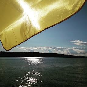 View under sunumbrella by Nat Bolfan-Stosic - Uncategorized All Uncategorized ( summer, sea, view, beauty, sunumbrella )