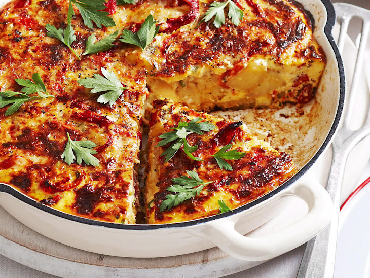 Chorizo and Roasted Red Pepper Frittata Recipe | Yummly