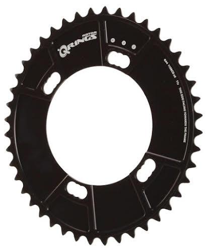 Rotor Qring 44t Chainring: Black 110x4 Shimano