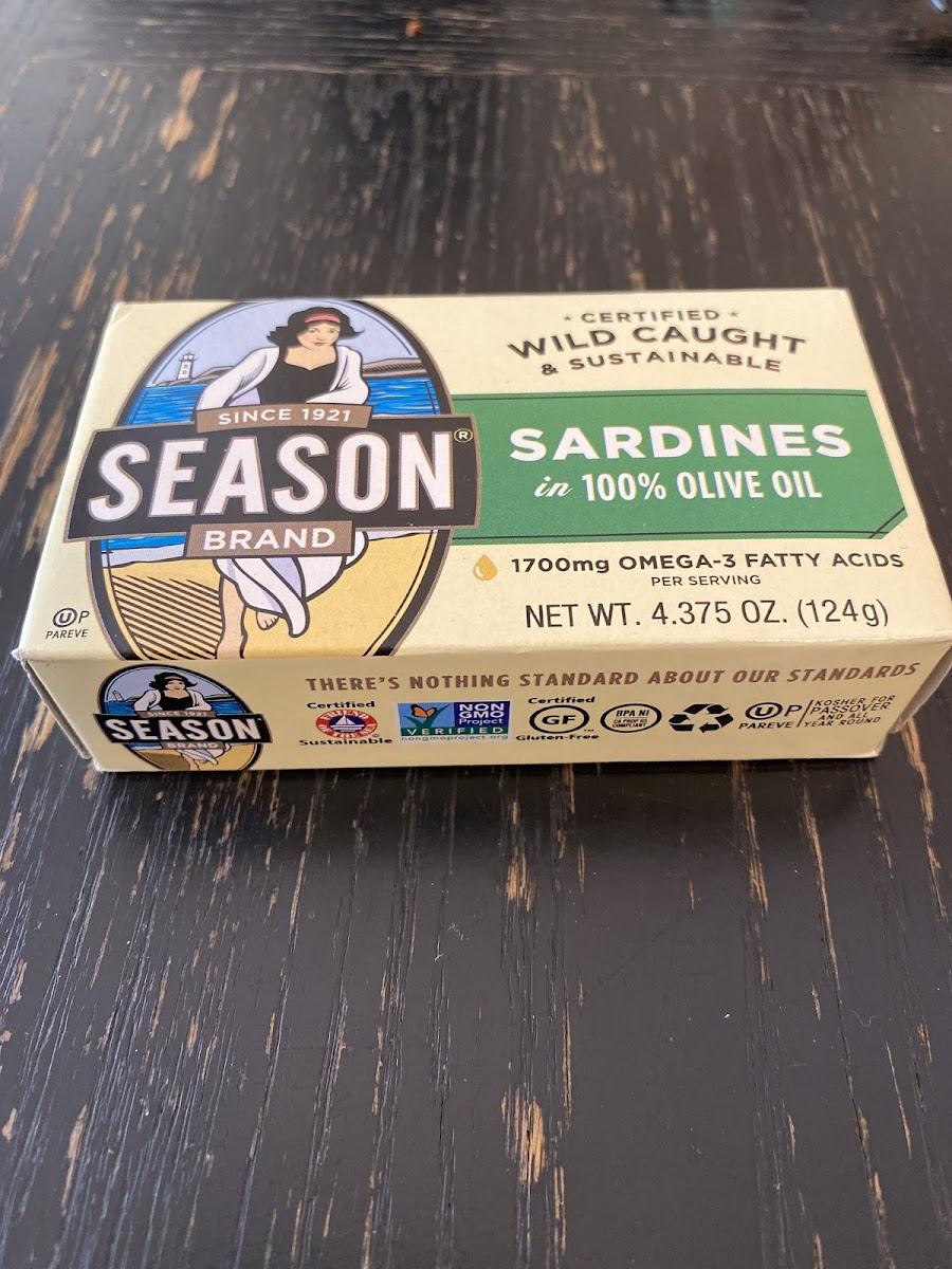 Sardines In Pure Olive Oil Salt Added