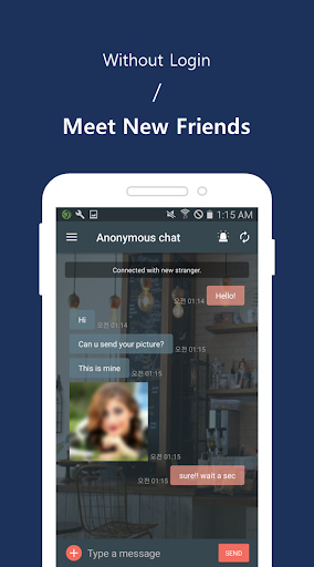 Random chat - Anonymous chat 2.0.3 screenshots 2