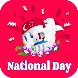 Singapore National Day Greeting Cards